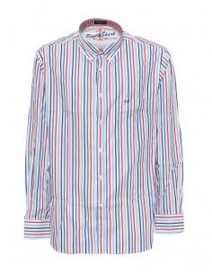Camisa Paul Shark para hombre estampado a rayas finas - azul/rojo/blanco