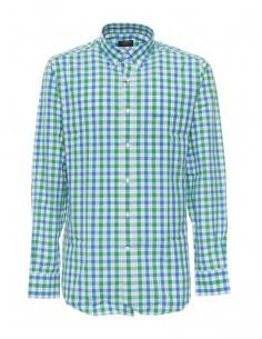Camisa Paul Shark para hombre de cuadros - azul/verde/blanco