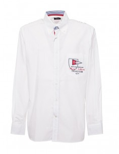 Camisa Paul Shark para hombre con bordados - blanca