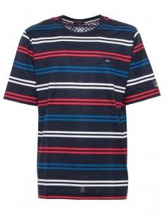 Camiseta Paul Shark para hombre rayas - navy/red/blue