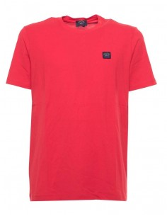 Camiseta Paul Shark para hombre solid red
