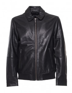 Calvin Klein chaqueta para hombre - piel negra