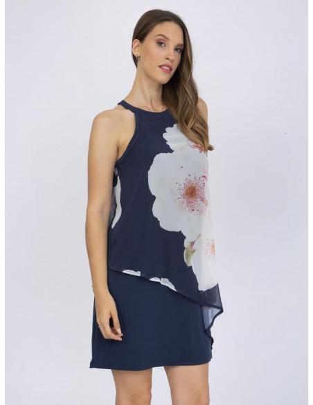 Vestido corto Sir Raymond Tailor flores