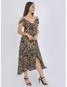 Vestido largo Sir Raymond estampado leopardo
