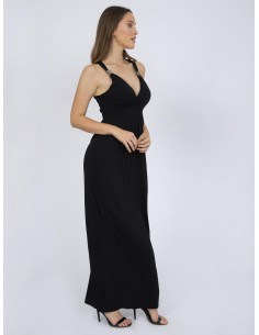 Vestido largo XS a 6XL Sir Raymond Tailor liso - negro
