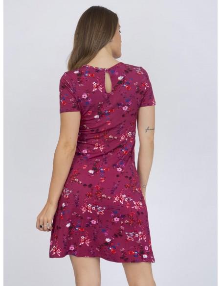 Vestido corto XS a 6XL Sir Raymond Tailor floral - rosa