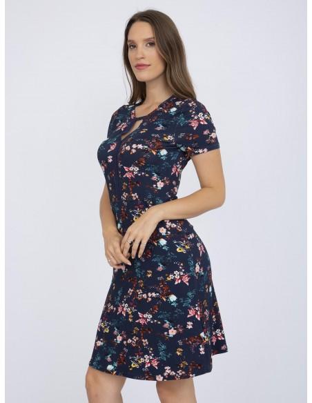 Vestido cortoRaymond Tailor floral - azul