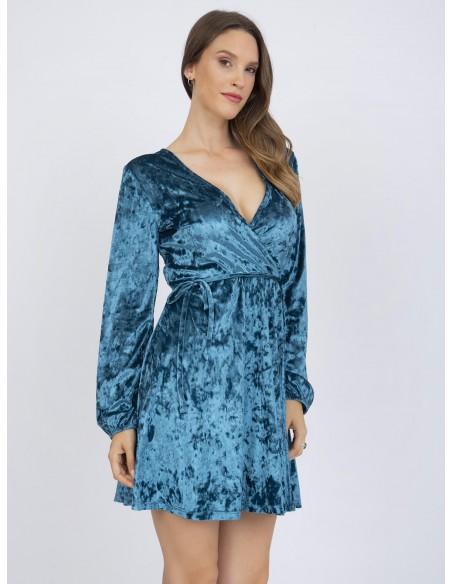 Vestido corto Sir Raymond Tailor floral - azul