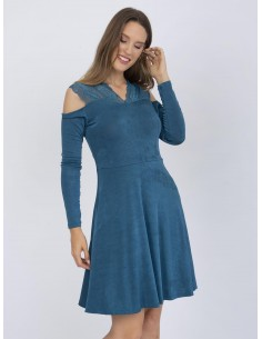 Vestido corto XS a 6XL Sir Raymond Tailor terciopelo- azul