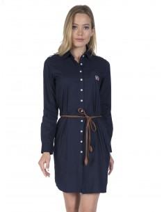 Vestido corto Sir Raymond camisero - marino