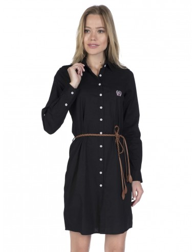 Vestido corto Sir Raymond camisero - negro