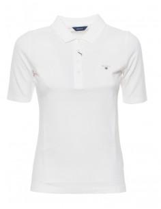 Polo Gant mujer basic preppy cotton - white