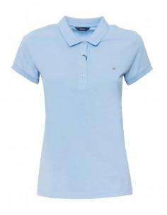 Polo Gant mujer basic cotton - capri blue