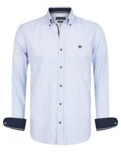 Sir Raymond Tailor camisa para hombre KIRBY - check sky blue