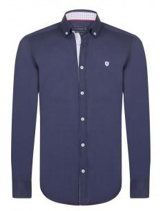 Camisa Sir Raymond Tailor detalles navy