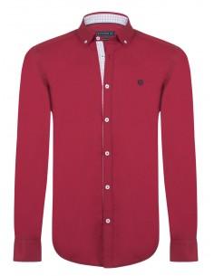 Camisa Sir Raymond Tailor detalles bordeaux