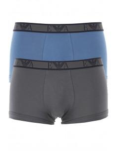 Armani pack 2 boxers negros con ribete - gris y azul