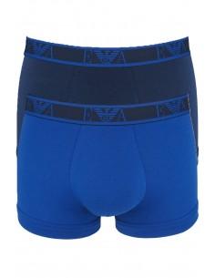 Armani pack 2 boxers negros con ribete - royal y negro