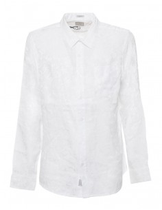 Camisa Guess para hombre manga larga - blanca