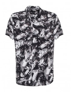 Camisa Guess para hombre manga corta - blanco y negro