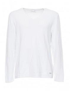 Jersey Guess para hombre cuello en V - blanco