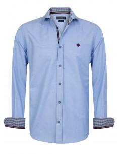 Sir Raymond Tailor camisa para hombre PIN blue
