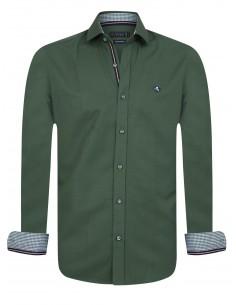 Sir Raymond Tailor camisa para hombre PIN kaki