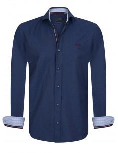 Sir Raymond Tailor camisa para hombre PIN Navy