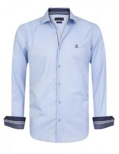 Sir Raymond Tailor camisa para hombre SCRAMBLE celeste