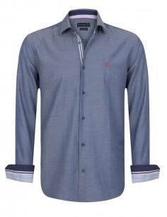 Sir Raymond Tailor camisa para hombre SCRAMBLE denim blue