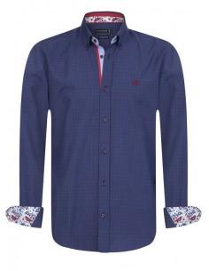 Sir Raymond Tailor camisa para hombre WHIPPY navy red