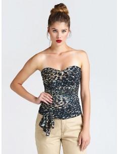 Top Guess Jeans leopardo