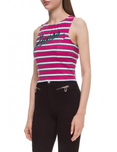 Top Guess Jeans tirantes con logo rosa