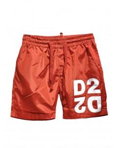 Bañador con logo D2 para hombre - rojo