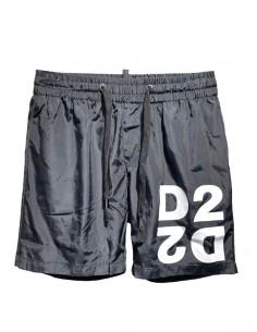 Bañador con logo D2 para hombre - negro