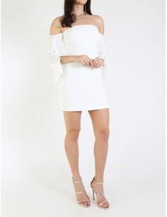 Vestido Guess by Marciano cuello barco blanco