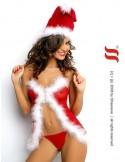 Conjunto sexy ayudante de Santa Claus