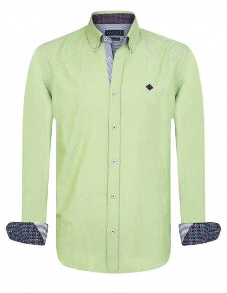 Sir Raymond Tailor camisa para hombre TIER navy lima