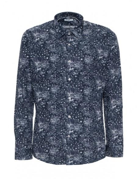 Camisa Ungaro para hombre slim fit - fantasia blu