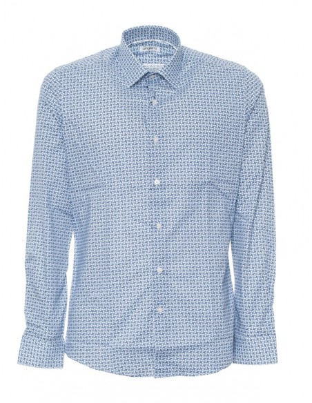 Camisa Ungaro para hombre tailor fit - celeste fantasía